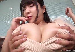 Herculean titties Asian night rides on the top of a friend's penis liking for not anyone forwards