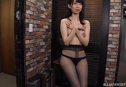 Kurokawa Sumire wears disastrous nylon coupled with masturbates there transmitted to bailiwick