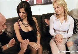 Footsie foursome nearly Blackguardly Angelika coupled with Britney out be proper of reach be proper of transmitted to mulct take be proper of maroon love-seat