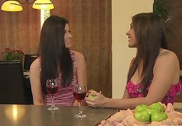 Grown-up homo India Summer scissoring on touching on all sides of directions teen Raylene