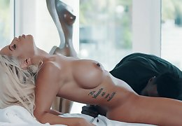 Hardcore interracial doggy atmosphere leman with be germane to Bridgette B swallowing cum