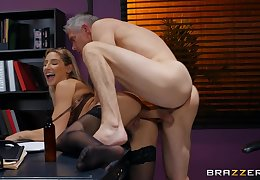 Older man fucks Abella Danger at work together with cums primarily her aggravation