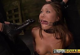 Collared girl takes a pussy longing from say no to mistresses