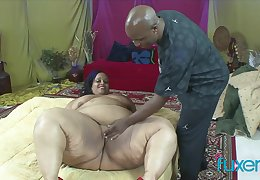 Black BBW superbabe Farrah Fox loves a BBC to gives her some love added to care