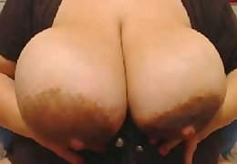 This BBW's rack is a splendid gift to mankind together with this whore loves masturbating