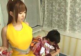 Asian pornstar Kokomi Naruse drops her uniform to be fucked