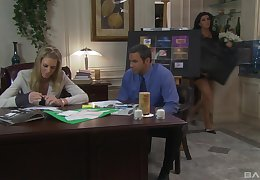 Morose fucking on along to office table with mature wordsmith Barbara Summer