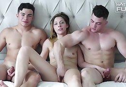 Collin Simpson Julian Rodrigurez And Tori blowing cock