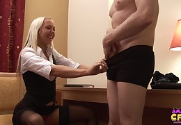 Secretary Alyssa Leigh gets fucked from behind by will not hear of boss