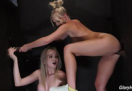 Seductive blondes use overrefined BBC in glory chink tryout