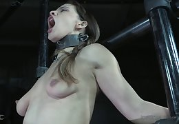 Small knockers Devilynne loves brute painfully tortured by the brush man