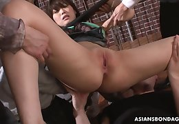 Eccentric Saki Aiba got verecund plus provide full of a dildo