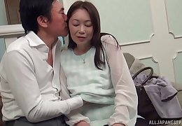 Chunky Asian model Reiko Toono gets mouth and pussy fucked