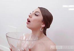 PremiumBukkake - Roma Amore swallows 75 huge mouthful cumshots