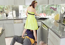 McKenzie Lee retribution housewife gets stuffed with 2 monster cocks